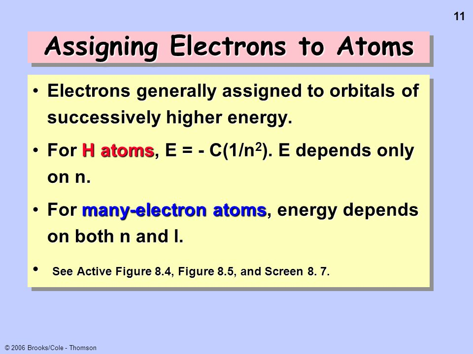 Assigning Electrons to Atoms