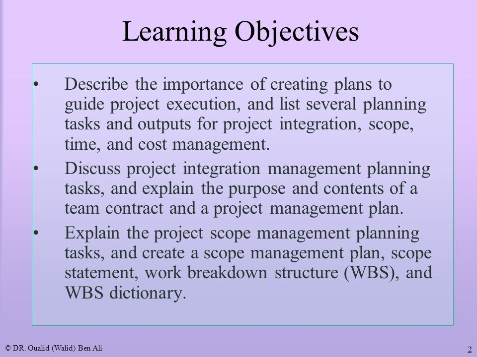 project management plan examples