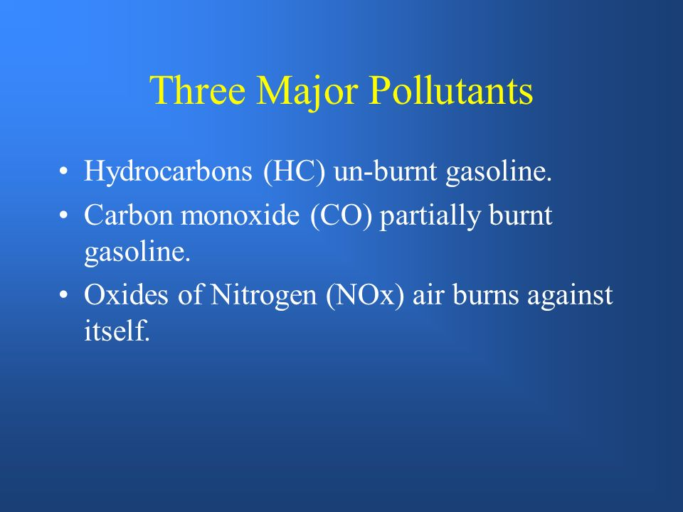 Three Major Pollutants