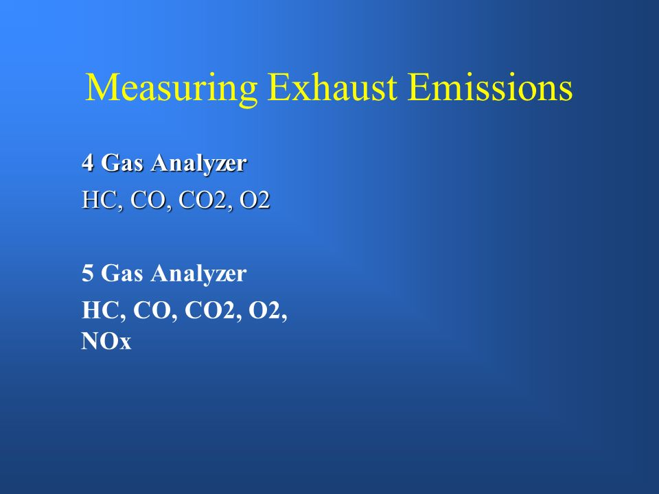 Measuring Exhaust Emissions
