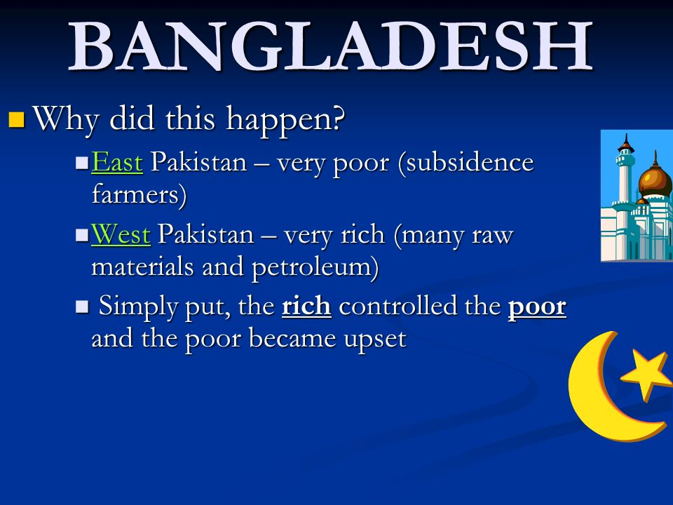 BANGLADESH Why did this happen