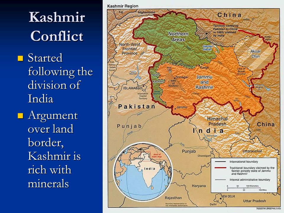 Kashmir Conflict Started following the division of India