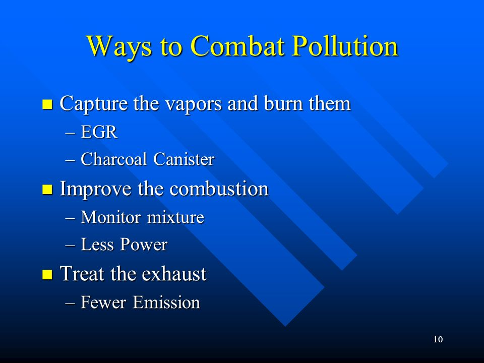 Ways to Combat Pollution