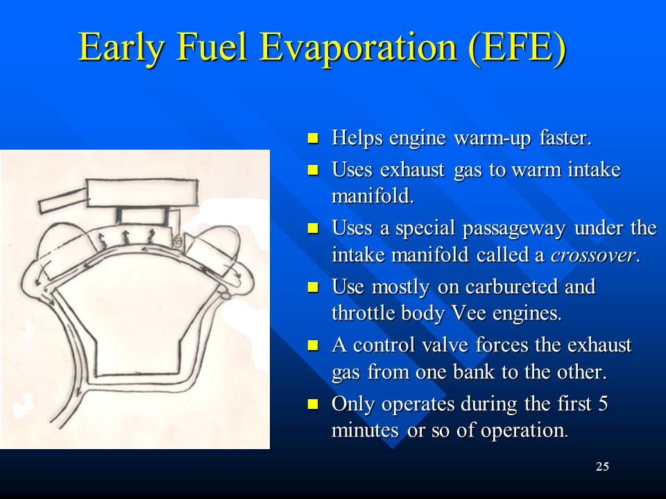 Early Fuel Evaporation (EFE)