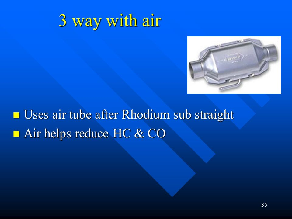 3 way with air Uses air tube after Rhodium sub straight