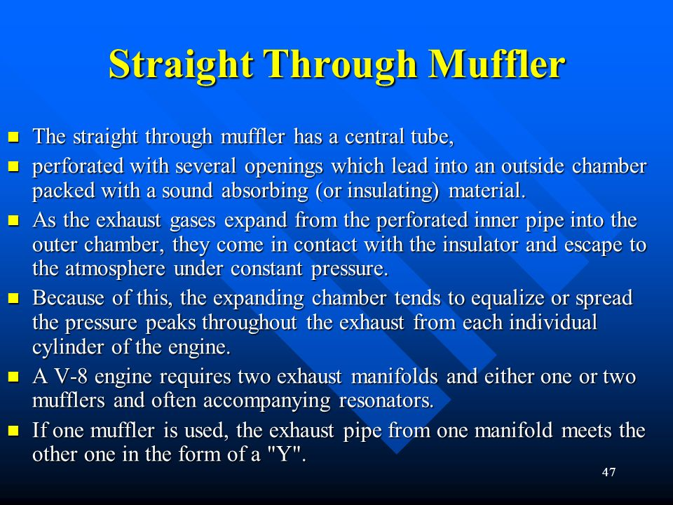 Straight Through Muffler