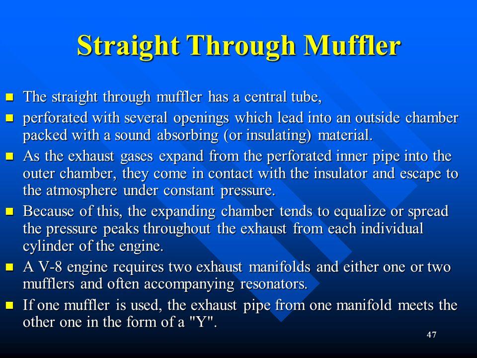 Straight Through Muffler