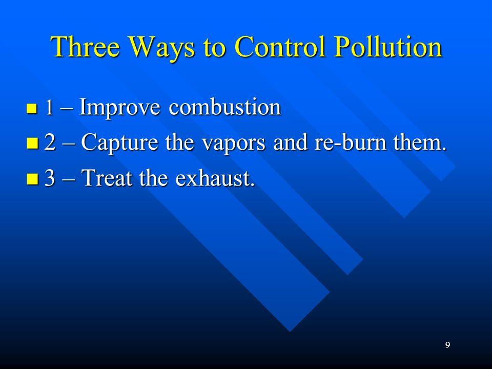 Three Ways to Control Pollution