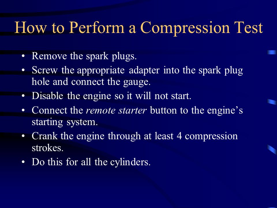 How to Perform a Compression Test