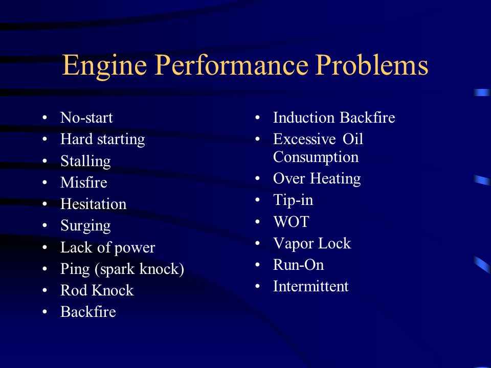 Engine Performance Problems