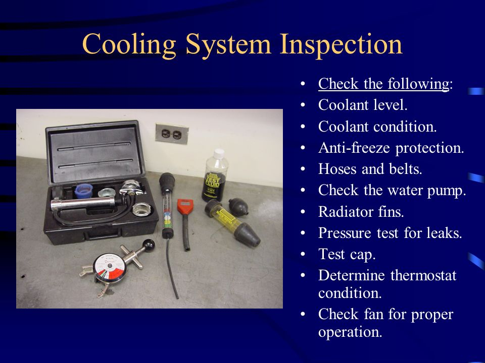 Cooling System Inspection