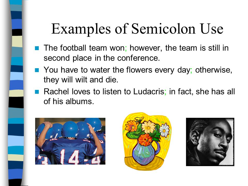 Examples of Semicolon Use