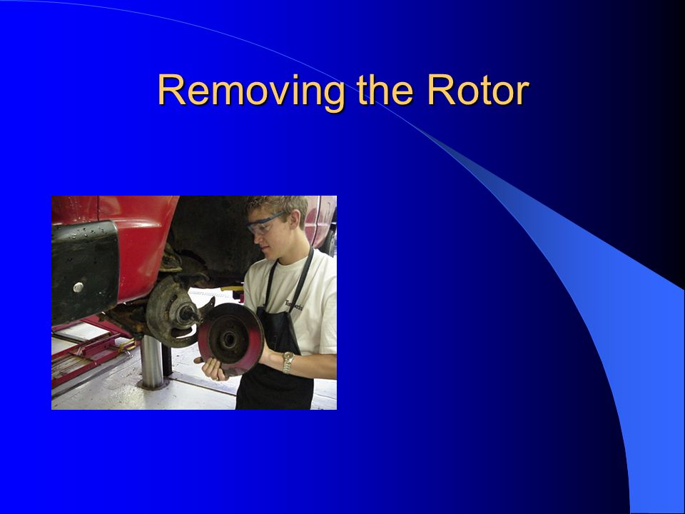 Removing the Rotor