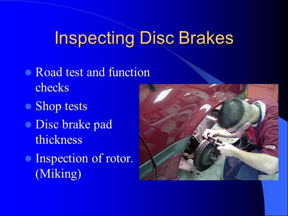 Inspecting Disc Brakes