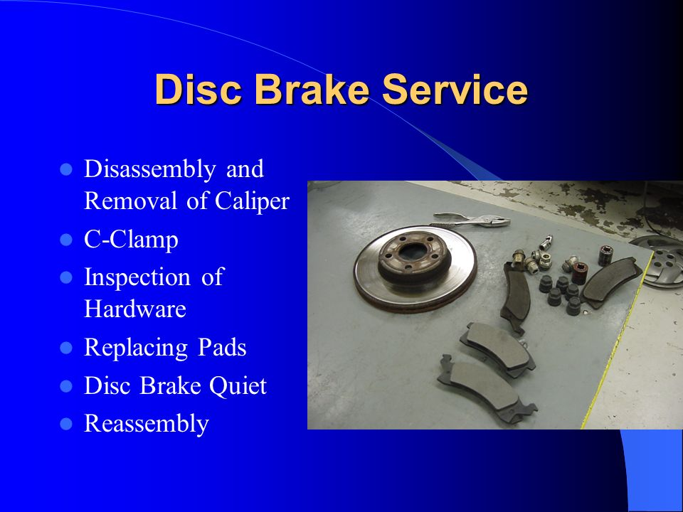 Disc Brake Service Disassembly and Removal of Caliper C-Clamp