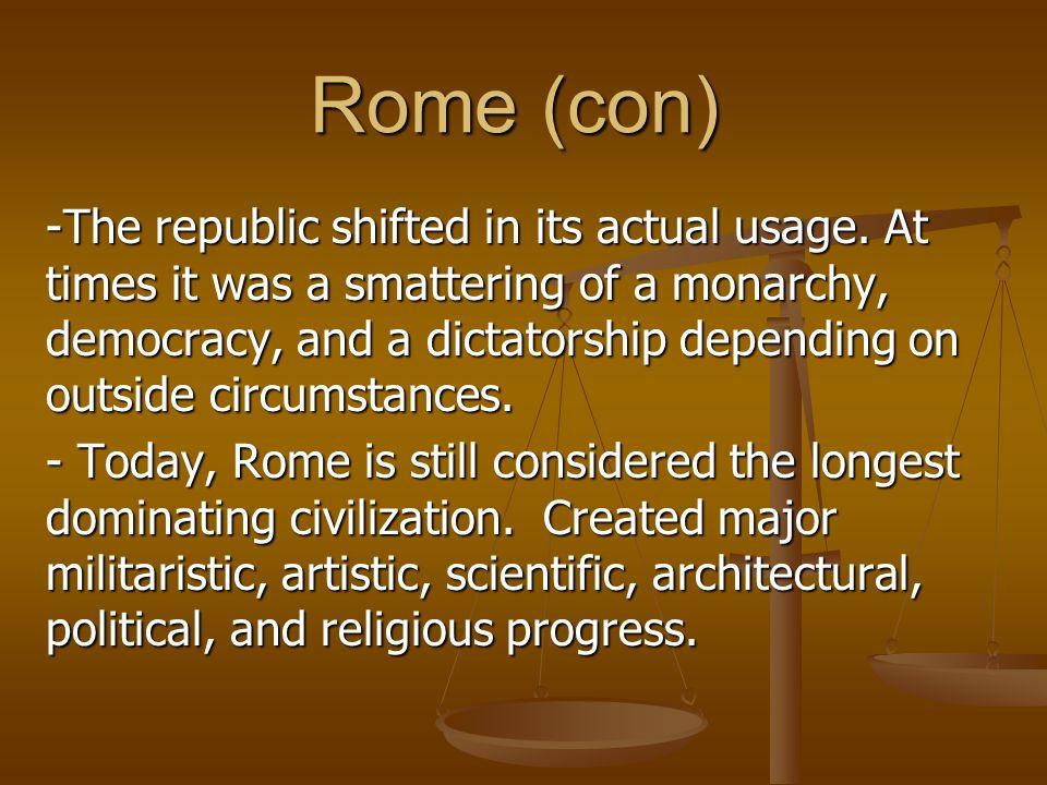 Rome (con)