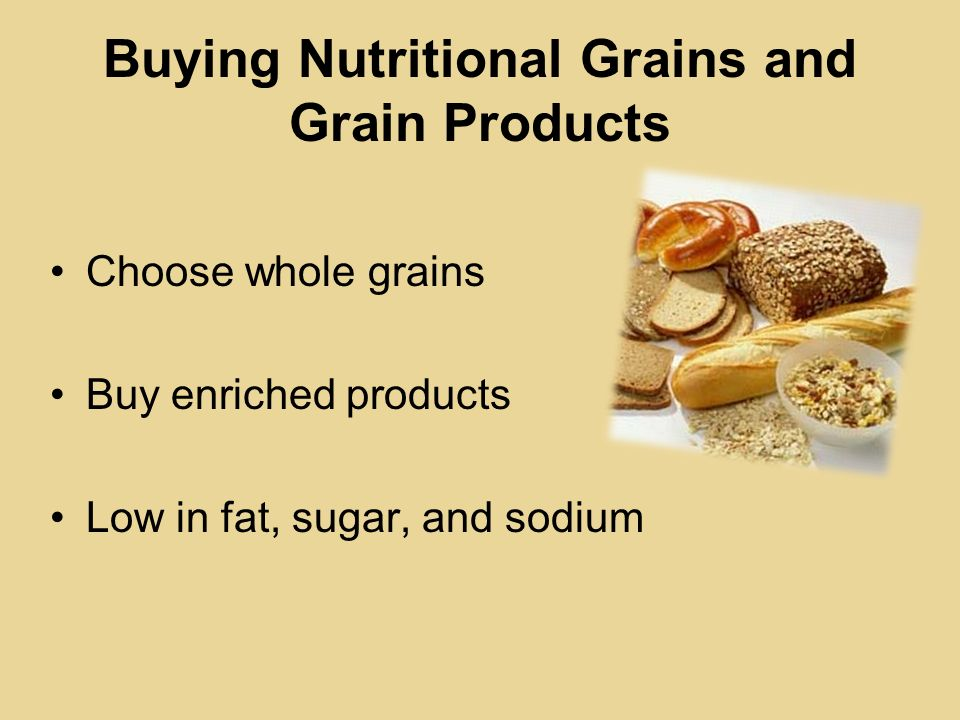 Buying Nutritional Grains and Grain Products