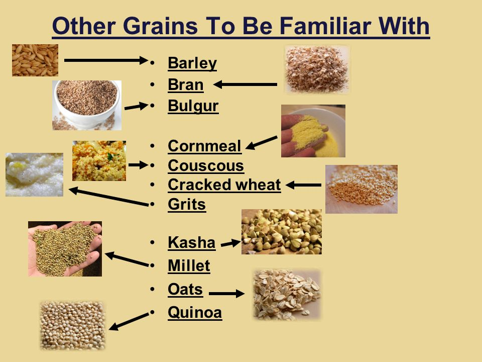 Other Grains To Be Familiar With