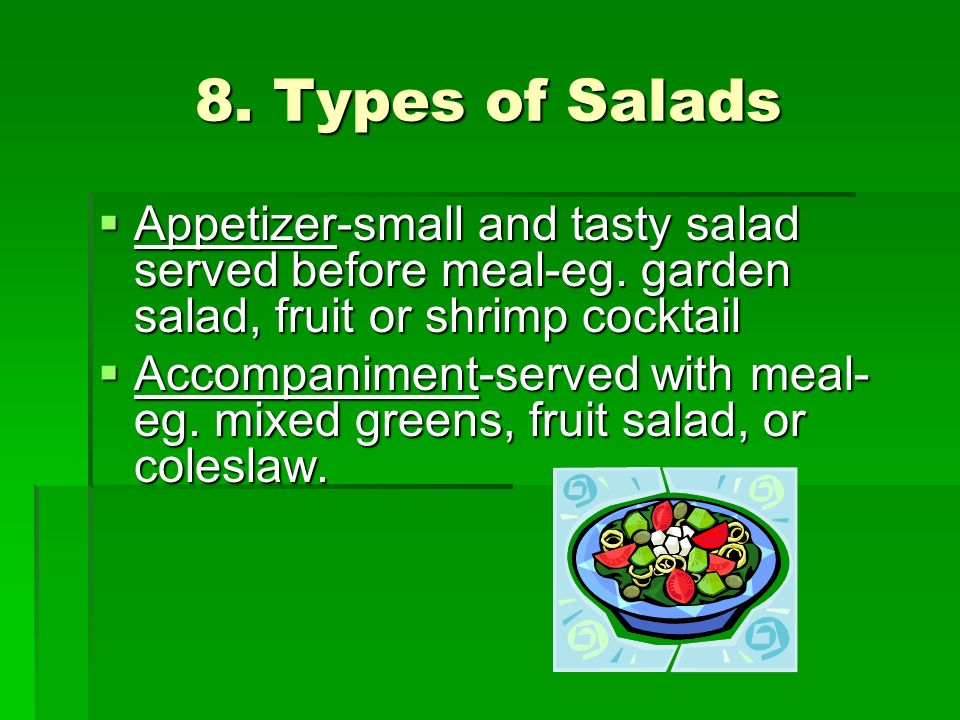 8. Types of Salads