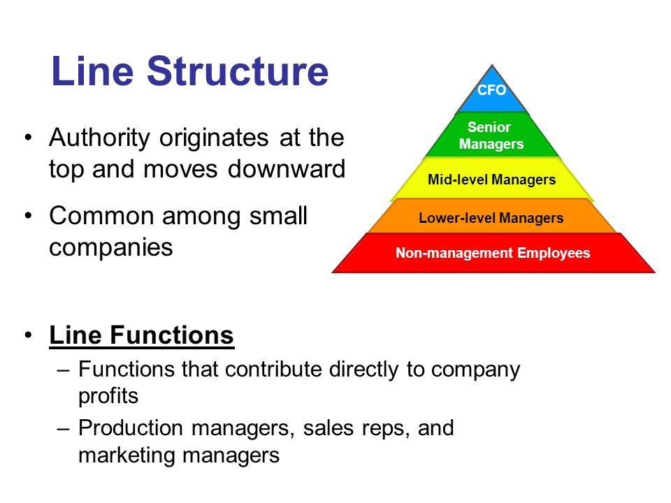 Line Structure Authority originates at the top and moves downward