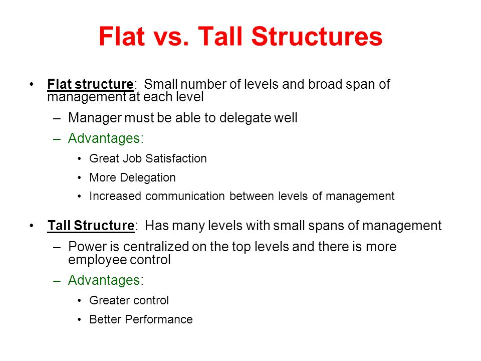 Flat vs. Tall Structures