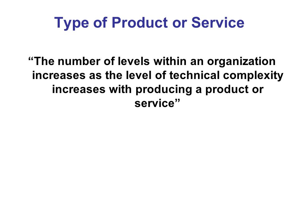 Type of Product or Service