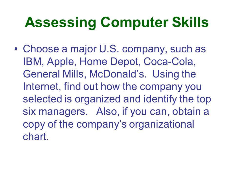 Assessing Computer Skills