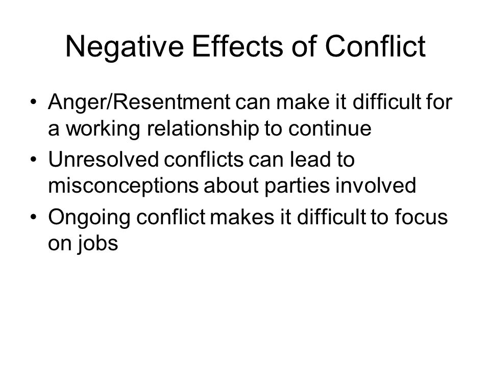 the effects of unresolved conflict on 20 signs of unresolved trauma  1  having a fear of conflict, running from conflict,  but the effects are long-term,.