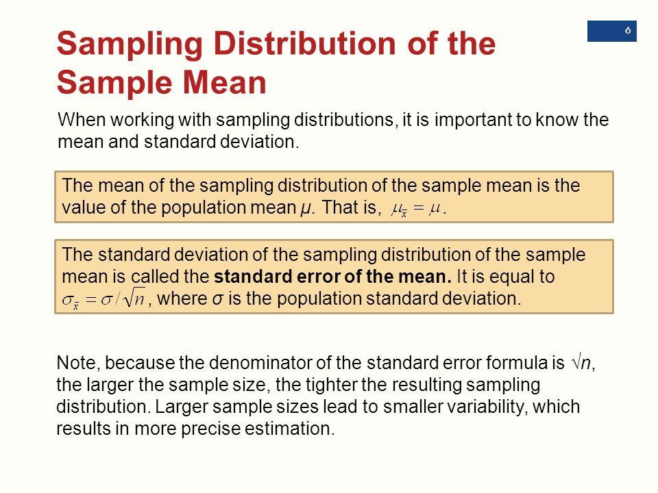 Chapter 7: Sampling Distributions - ppt download