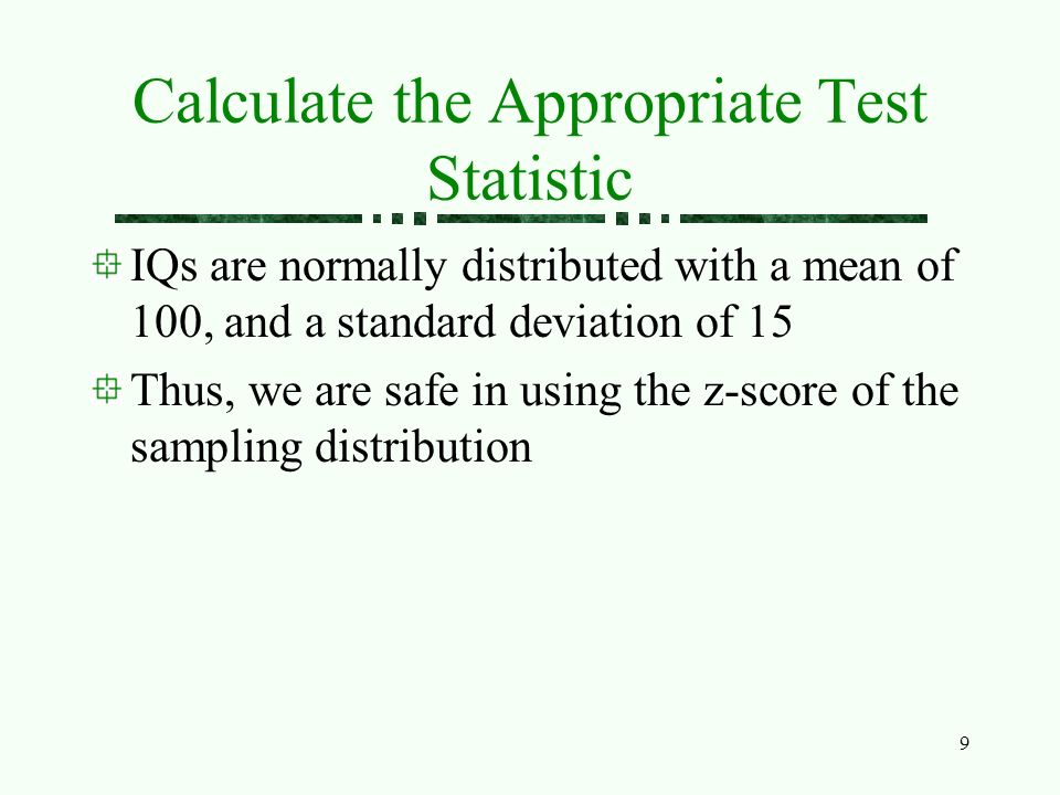 how to find z score of test statistic