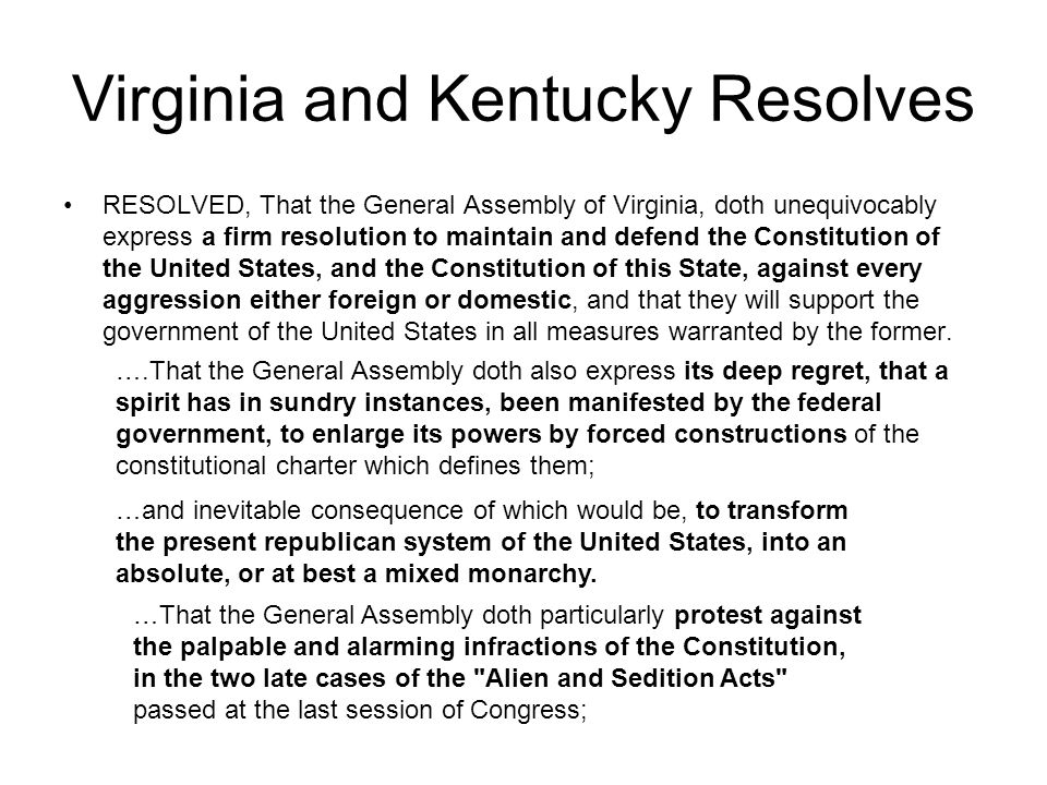 Virginia and Kentucky Resolves