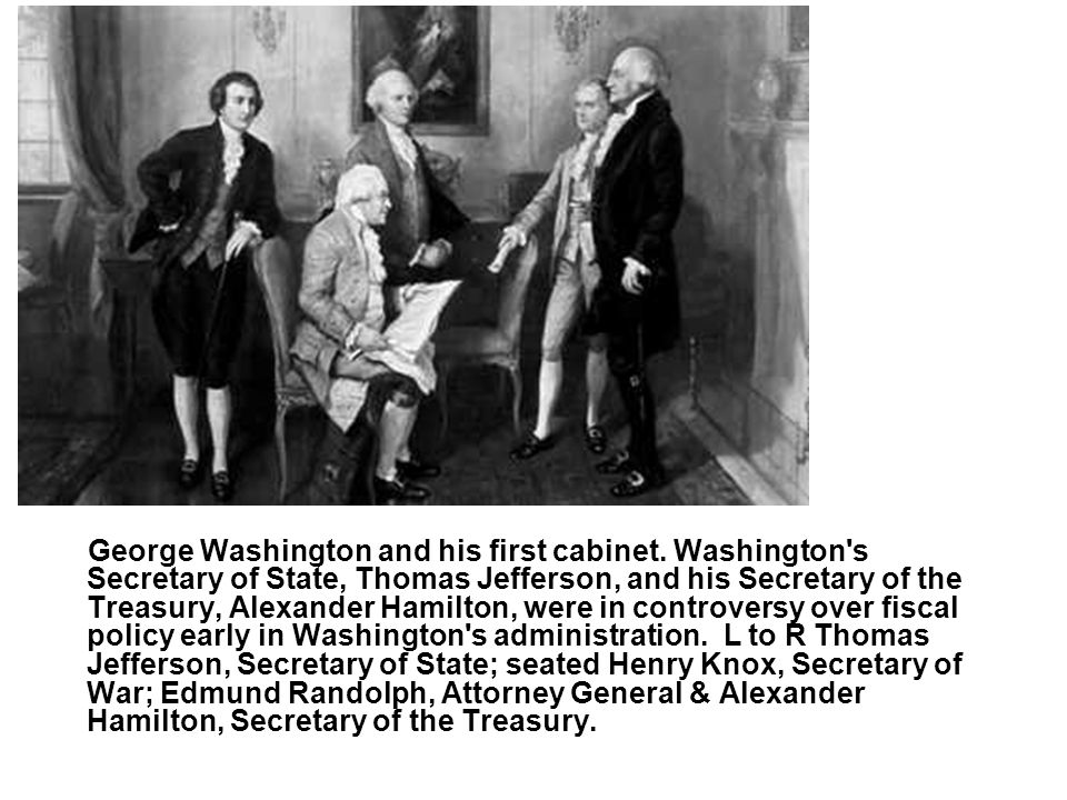 George Washington and his first cabinet