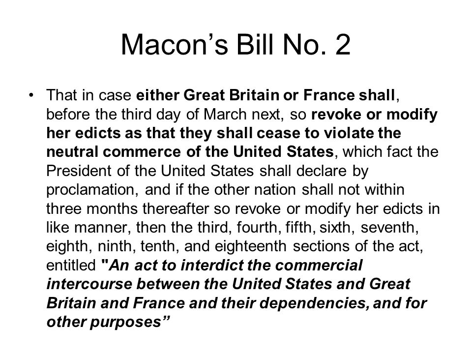 Macon's Bill No. 2