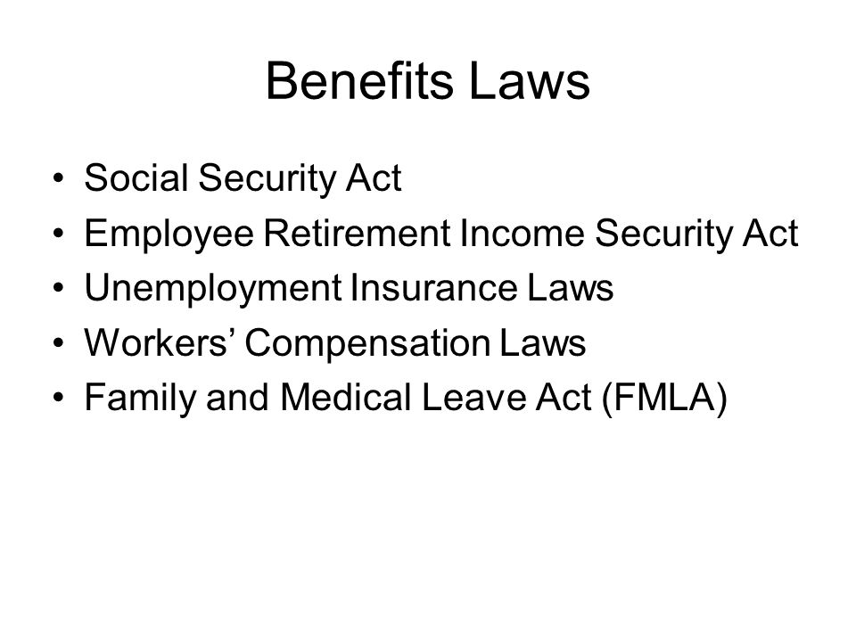 Benefits Laws Social Security Act