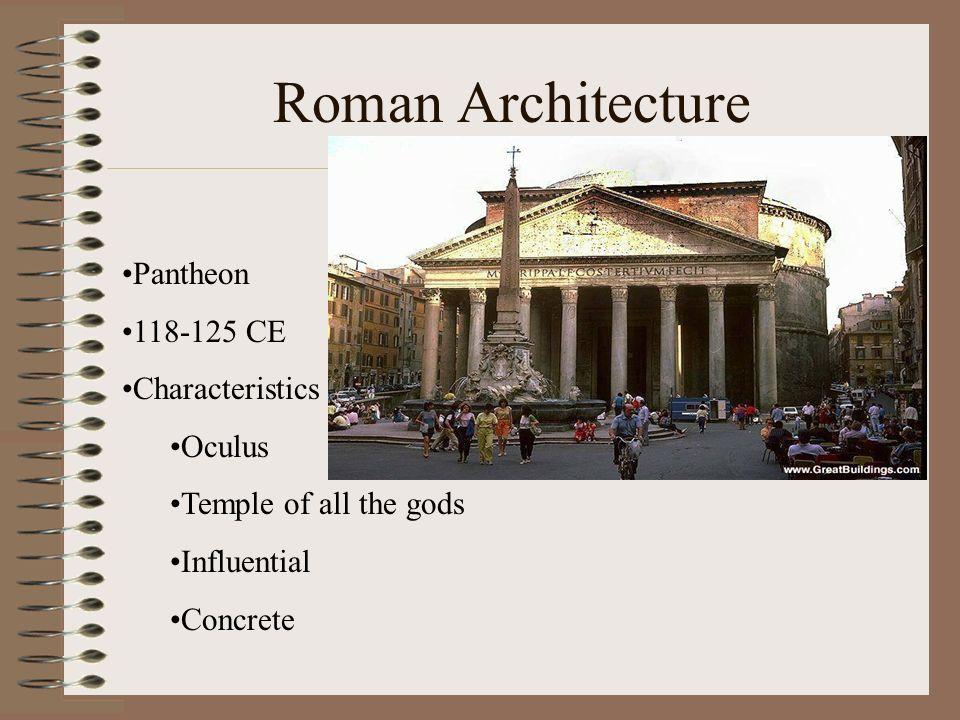 Roman Architecture Pantheon 118-125 CE Characteristics Oculus