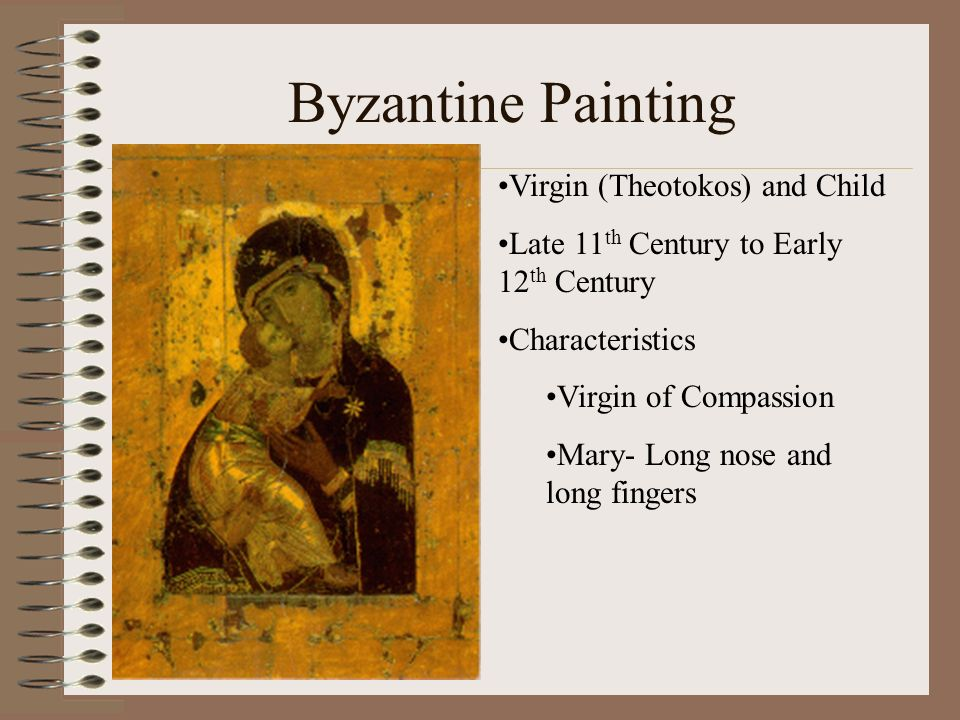 Byzantine Painting Virgin (Theotokos) and Child