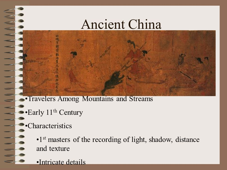 Ancient China Travelers Among Mountains and Streams Early 11th Century