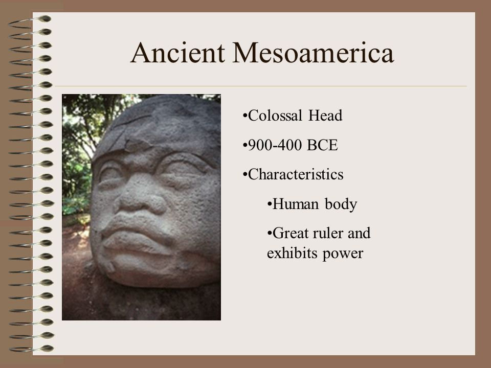 Ancient Mesoamerica Colossal Head 900-400 BCE Characteristics