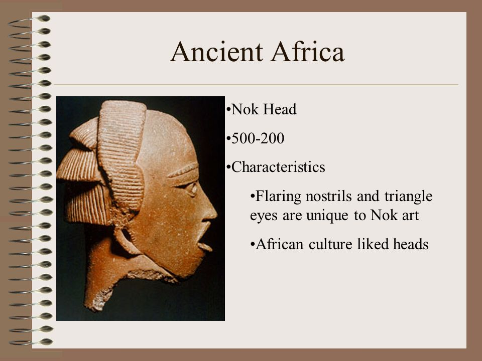 Ancient Africa Nok Head 500-200 Characteristics
