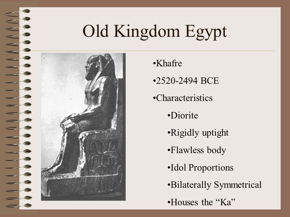 Old Kingdom Egypt Khafre 2520-2494 BCE Characteristics Diorite