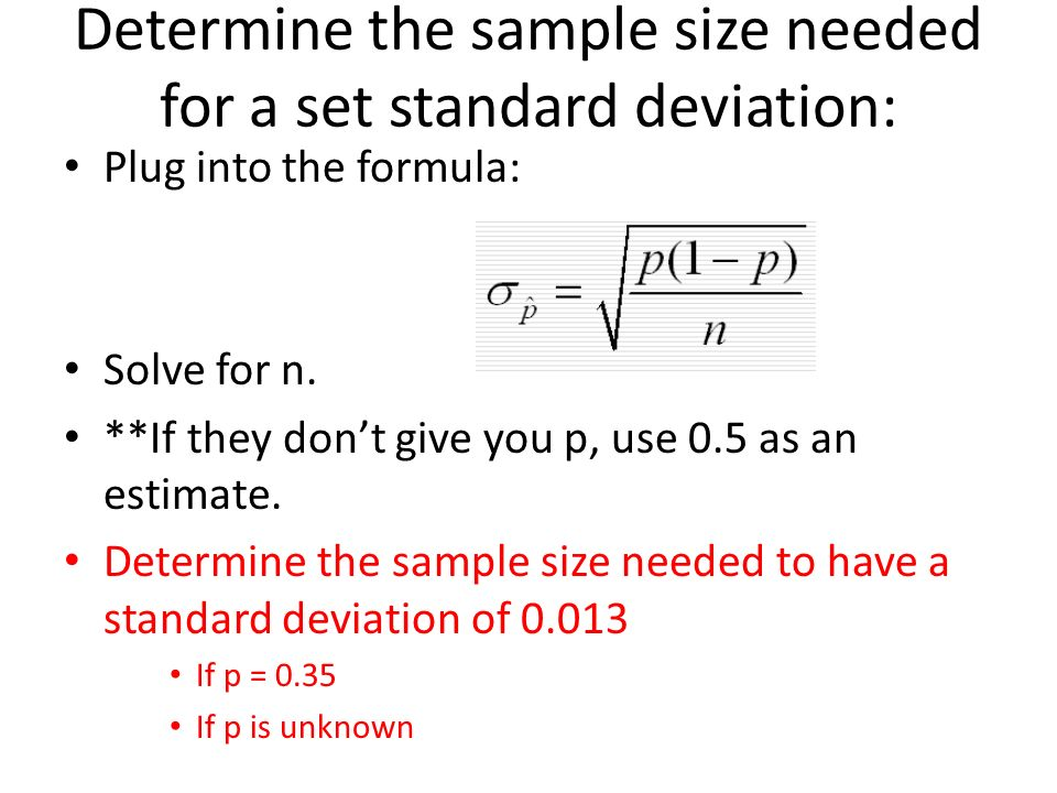 Simulating a sample distribution ppt download 11 determine the sample size needed for a set standard deviation ccuart Gallery