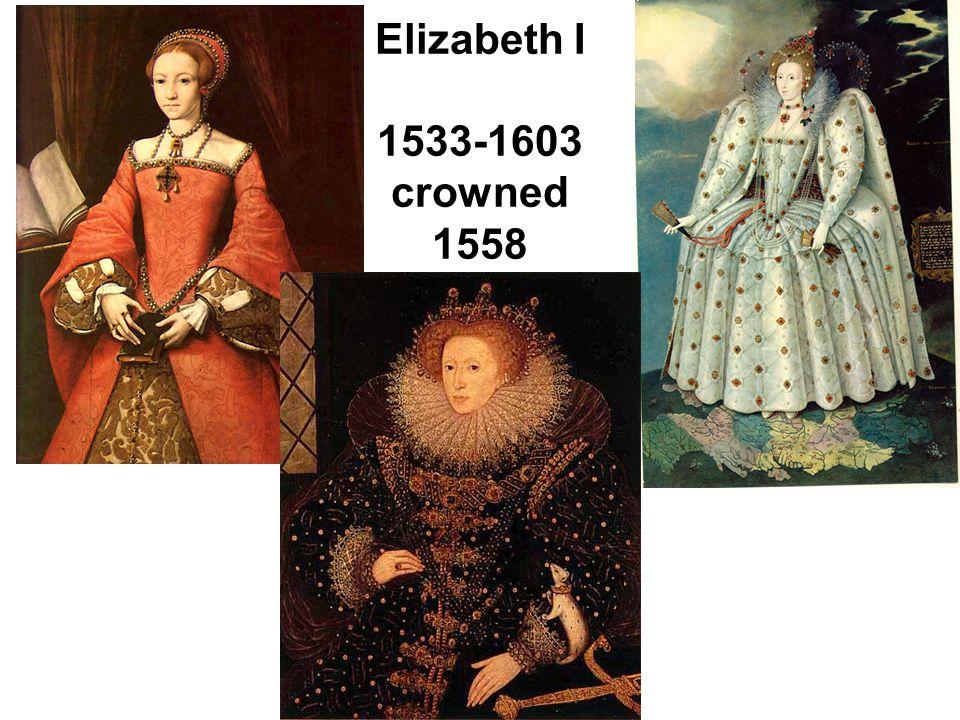 Elizabeth I 1533-1603 crowned 1558