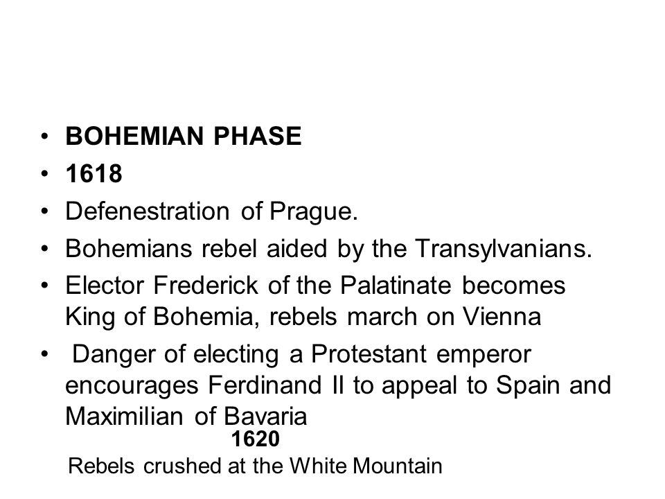 Rebels crushed at the White Mountain
