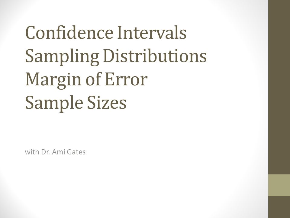 sample sizes and confidence interval for View our sample size formulas for our sample size calculator from creative research (5 used for sample size needed) c = confidence interval, expressed as decimal.