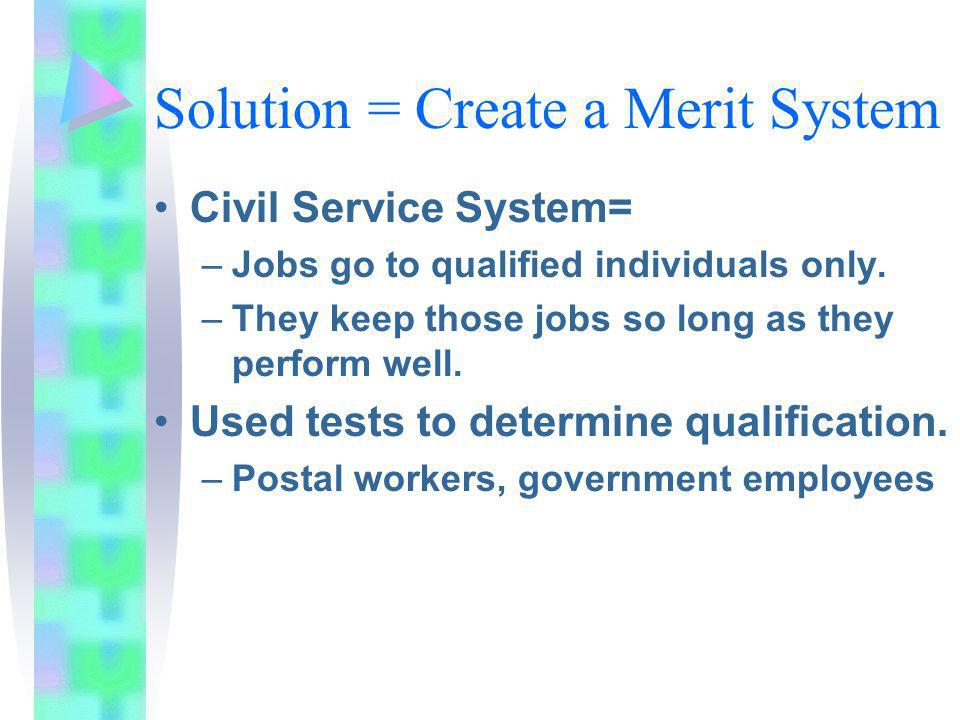 Solution = Create a Merit System