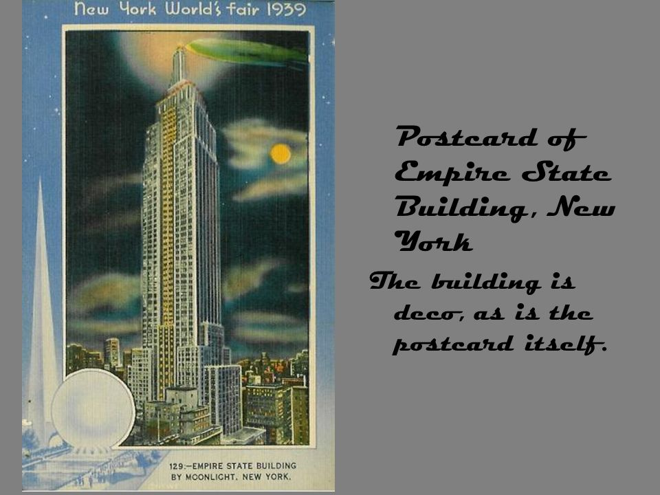 Postcard of Empire State Building, New York