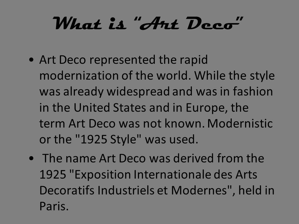 What is Art Deco