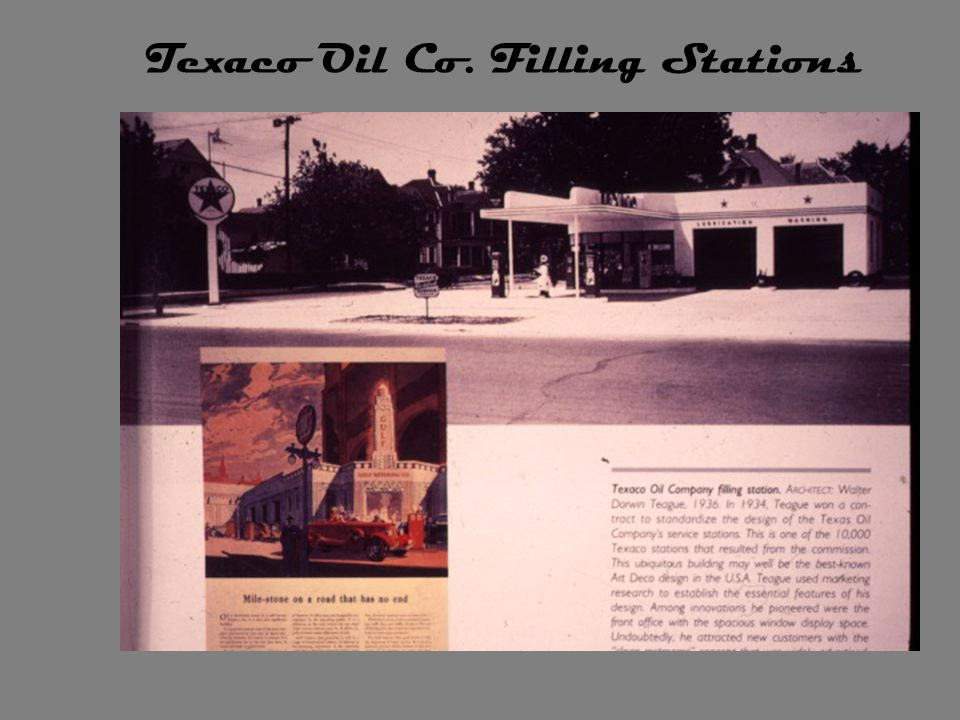 Texaco Oil Co. Filling Stations