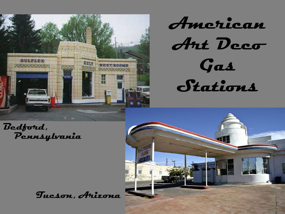 American Art Deco Gas Stations