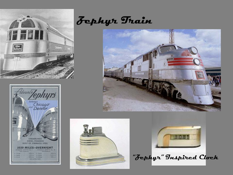 Zephyr Train Zephyr Inspired Clock